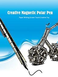 w0053 1шт черный DIY магнитный ручка с пополнения&стальные шарики