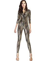Women's Gold Jumpsuits , Sexy/Bodycon Long Sleeve