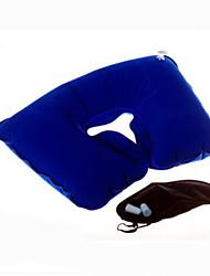 viajar conforto, patch, tampões de ouvido, travesseiro foldinflatable