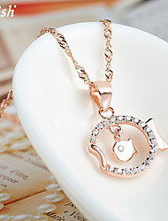 Cute/Party/Work/Casual Cubic Zirconia/Vermeil/Rose Gold Plated Fashion Pendants