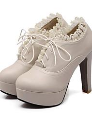 De krip mirte damesmode kant hoge hak laarzen