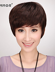 Charming Capless Short Straight Human Hair Wigs