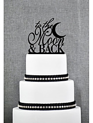 Cake Toppers Acrylic To The Moon & Back Cake Topper