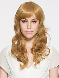 Lady's Blonde Long Wavy Synthetic Hair Wig