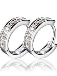 Earring Hoop Earrings Jewelry Women Silver 2pcs Silver