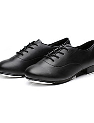 Kids'/Men's  Flat Tap Leather Dance Shoes