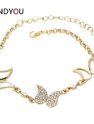 Women's Charm/Chain/Tennis Bracelet Cubic Zirconia/Alloy/18K Gold Plated Crystal/Rhinestone/Cubic Zirconia