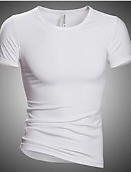 T-Shirts ( Coton mélangé ) Informel Col V à Manches courtes