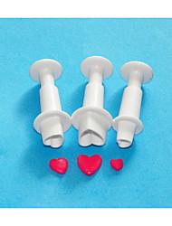 Vier c Herzform Fondant-Kuchen Plunger Cutter, Set Fondantkuchen Dekorationswerkzeuge