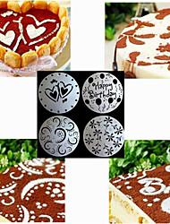 moldes bakeware de alta qualidade de impressão de moldes de pulverização para o bolo de 8 polegadas (conjunto de 4)