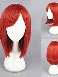 16 дюймов Короткие любовные -nishikino маки красные синтетический аниме косплей парик жить!