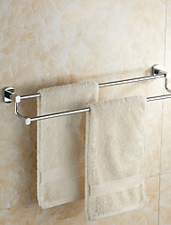 Modern Chrome Finish Solid Brass Material Double Towel Bars