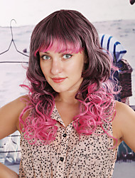 Women Synthetic Multicolor Wig Wavy 14 Inch