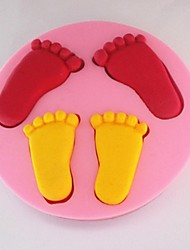 Bakeware Silicone Foot Baking Molds for Chocolate Cake Jelly (Random Colors)