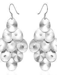 lureme® Fashion Style Silver Plated Grape Shaped with Zircon Dangle Earrings