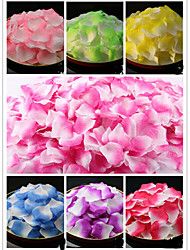 Set of 100 Double Color Color-Changing Petals Rose Petals Table Decoration (Assorted Color) Coral Wedding
