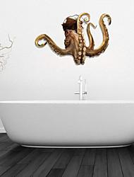 Adesivos de parede adesivos de parede 3d, polvo banheiro decoração da parede mural pvc adesivos