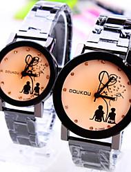 nuevos niños y niñas de explosión de la pareja entregar relojes de cuarzo Ronda patrón de la moda de diamantes de línea