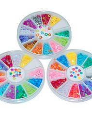 3Pcs Three Mixed Laser Manicure Sequins Nail Art  Decoration kits