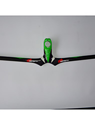 NEASTY Full Carbon Fiber Mountain Bike Stem Handlebar 3K Bright Green and White Painted Stem Handlebar