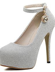 Chaussures Femme - Habillé - Violet / Argent - Talon Aiguille - Talons / Bout Arrondi - Talons - Paillette