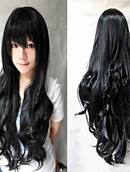 Cosplay a Long Section of High-quality Synthetic Wig High Temperature Wire Long Curly Hair