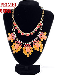 European and American fashion jewelry latest luxury items alloy short necklace