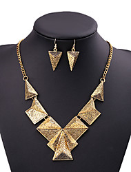 Women's Jewelry Set Unique Design Alloy Triangle Shape For Wedding Party/ Evening Dailywear Business Daily Wedding Gifts