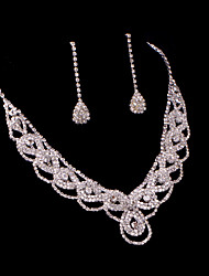 Ladies'/Women's Alloy Wedding/Party Jewelry Set With Rhinestone