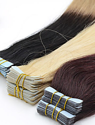 40pieces 2.5g/pc 100g 12inch-26inch Brazilian Virgin Tape Human Hair Extension #2 Tape In Human Hair Extensions 002