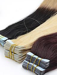 40pieces 2.5g / pc 100g 12inch-26inch brasiliano dei capelli umani del nastro vergine estensione # 2 nastro nelle estensioni dei capelli umani 002