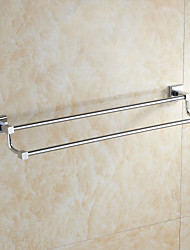 Chrome Finish Solid Brass Material Double Towel Bars