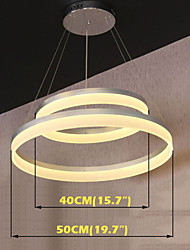 Round LED Pendant Light Modern Acrylic Lamps Lighting Luxurious Double Rings D4050 Ceiling Lights Fixtures
