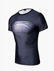 Cycling Jersey Men's Half Sleeve Bike Breathable / Quick Dry / Compression T-shirt / Tops Spandex / Polyester / Elastane Fashion / Cartoon