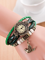 Original High Quality Women Genuine Leather Vintage Watches Bracelet Wristwatches The Dove Pendant Relogio Feminino