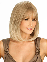 New Pretty High Quality Capless Short Straight Mono Top Human Hair Wigs Four Colors to Choose