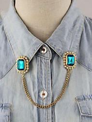 Lucky Star Women's Fashion Gemstone Chain Brooch Necklace