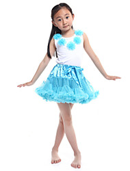 Performance Outfits Women's Performance/Training Chiffon/Cotton Royal Blue Kids Dance Costumes