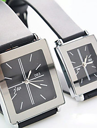 Couple's Square Dial Plastic Strap Simple Quartz Watch (Assorted Colors) Cool Watches Unique Watches