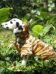 Dog Coat Yellow Dog Clothes Winter Animal Cosplay