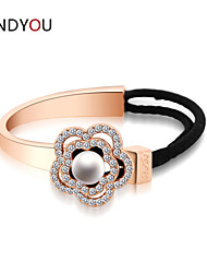 Women's Chain/Tennis/Round Bangles Bracelet Cubic Zirconia/Pearl/Alloy/18K Gold Plated Crystal/Pearl/Cubic Zirconia