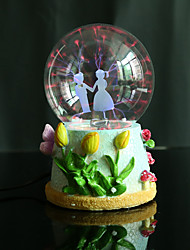 résine boule de cristal temps de bonheur rechargeable lampe LED