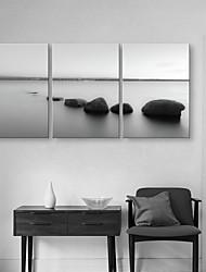 e-FOYER toile tendue art en pierre de l'eau peinture décorative ensemble de trois