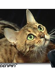 bonito selvagens olhos verdes mouse pads seenpin raça personalizado gato bengal