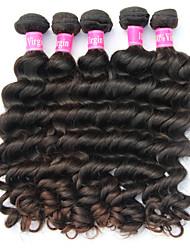 """3 / Los 8 """"-34"""" peruanisches reines Haar unverarbeitete natürliche schwarze Farbe natürlichen Gewebe Haarverlängerung."""