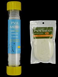 Carp Fishing PVA Mesh Combo:  1PCS 25mm X 5m Tubed PVA Mesh System + 1Pack Universal 25mm X 10m PVA Mesh Refill