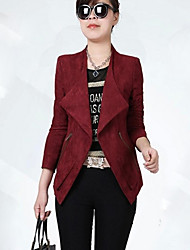 Women's Pink/Red Blazer , Casual Long Sleeve