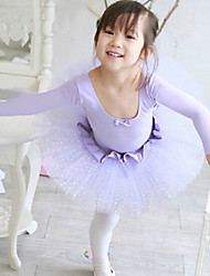 Ballet Dresses Women's Performance/Training Cotton Pink/Purple Kids Dance Costumes