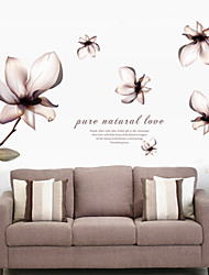 Wall Stickers Wall Decals, Pure Natural Lily PVC Wall Stickers