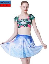 falda estampada sexy mediados de cintura delgada falda plisada estilo coreano underdress informal de cmfc®women